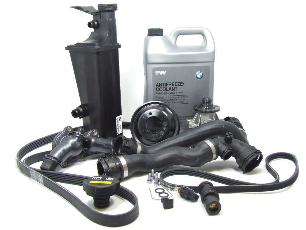 E46AT3COOLKIT O.E.M. Cooling System Service Kit; E46 Auto.Trans. from 9/2002 to 8/2006; 19 pc. Kit