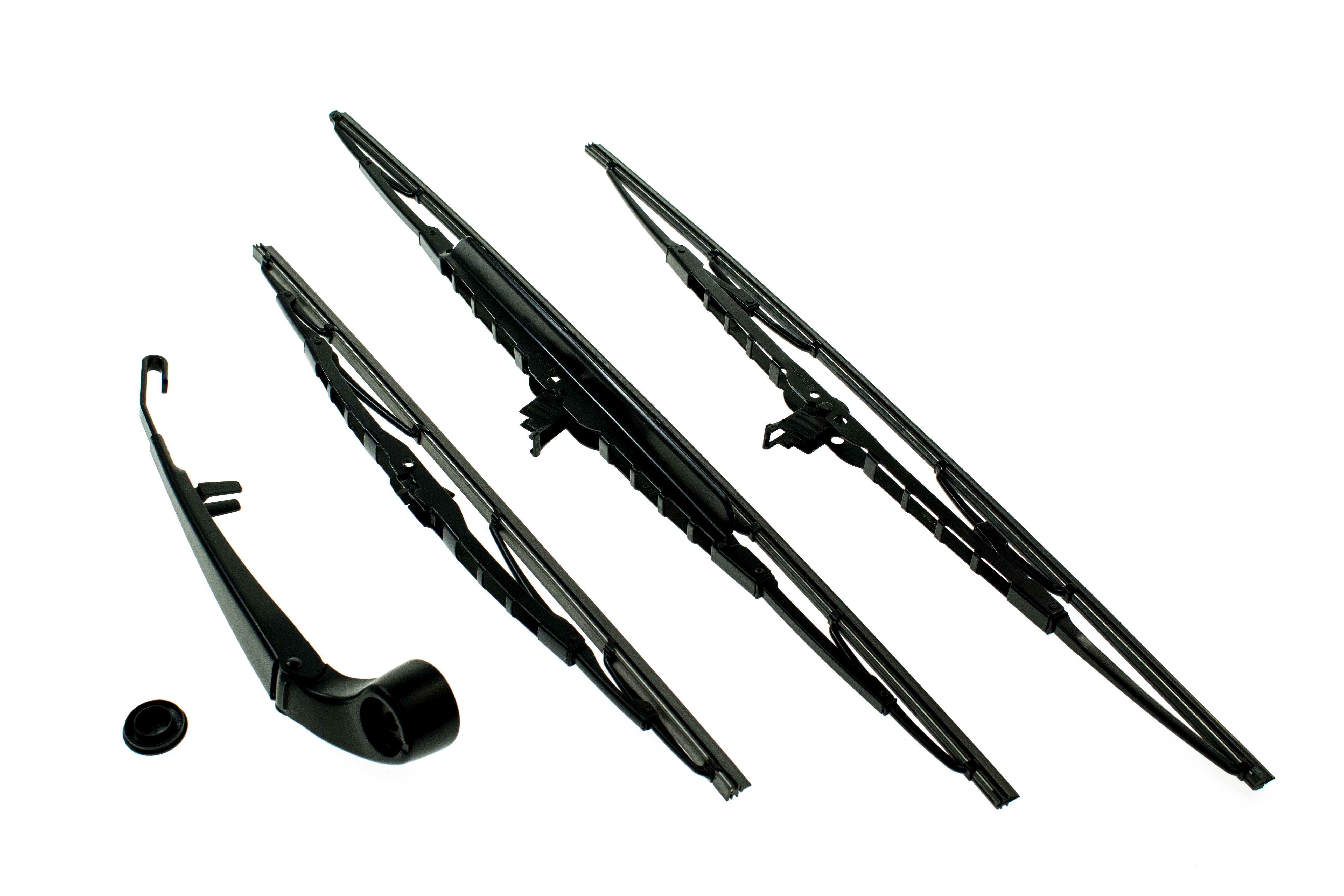 aaz preferred e53wiperkit windshield wiper blade set  front and rear blades  rear arm  kit