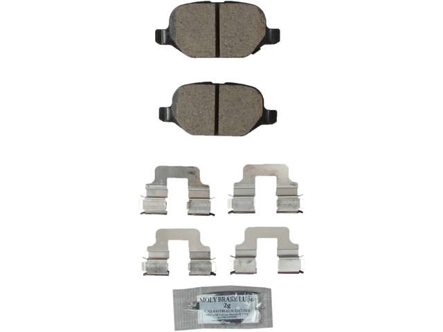EUR1569 Akebono Euro Brake Pad Set; Rear