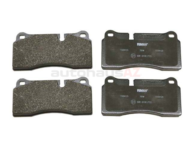 4S0698451M Ferodo Brake Pad Set; Rear
