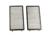 FP3124-2 Mann Frecious Plus Cabin Air Filter Set; Charcoal Activated Three Layer Design; SET of 2