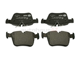 0004208200 Hella Pagid Brake Pad Set; Rear