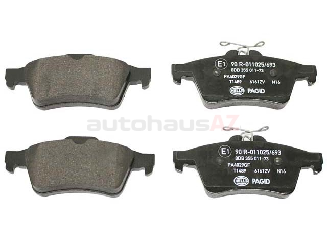C2P17595 Hella Pagid Brake Pad Set