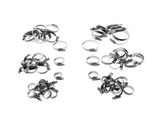 HOSECLAMPKIT AAZ Preferred Hose Clamp; Variety 6 Sizes, 10 Pack Each; Kit