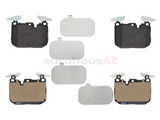 34106878878 Jurid Brake Pad Set; Front
