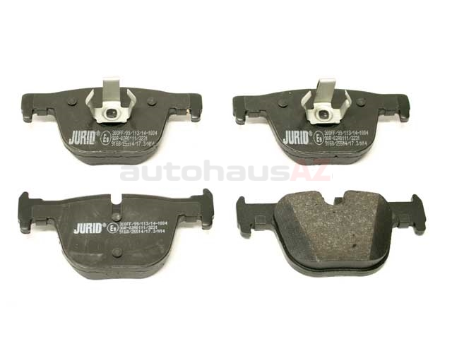 34206799813 Jurid Brake Pad Set; Rear