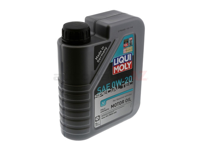 20198 Liqui Moly Special Tec V Engine Oil; 0W-20 Synthetic; 1 Liter
