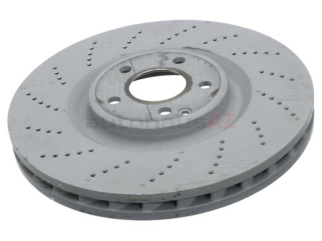 000421171207 Genuine Mercedes Disc Brake Rotor; Front; Left or Right