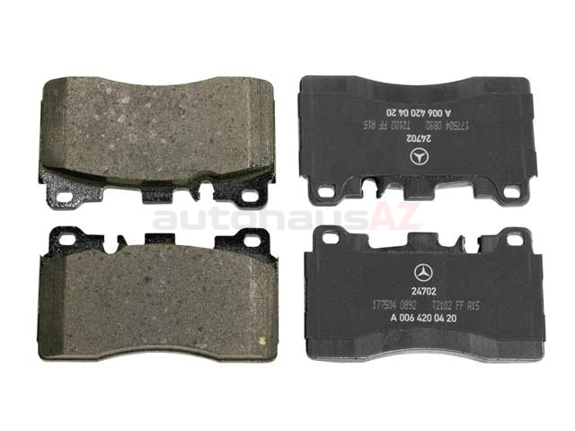 0074207220 Genuine Mercedes Brake Pad Set; Rear