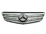 20488000239744 Genuine Mercedes Grille; Brilliant Silver