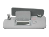 21181003107F85 Genuine Mercedes Sun Visor Parts; Left Visor Assembly with Mirror; Orion Grey