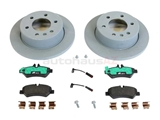 9064200083 Genuine Mercedes Disc Brake Pad and Rotor Kit; Rear