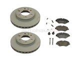 MB-906420018328 Genuine Mercedes Disc Brake Pad and Rotor Kit