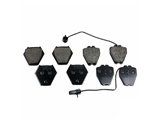 MDB2358 Mintex Brake Pad Set; Front with Sensors; 8 Pad Set - 2 with Sensors; D-SHAPE PLUG