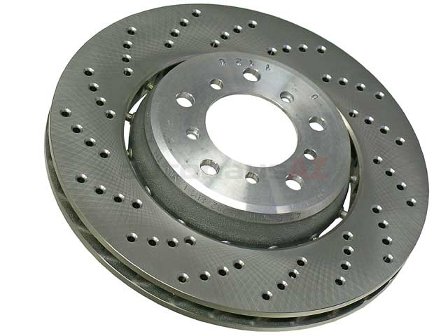 34112282801 O.E.M. Disc Brake Rotor; Front Left, Directional; 325 x 28mm