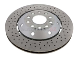 4B3615601C O.E.M. Disc Brake Rotor; Rear Left; Directional