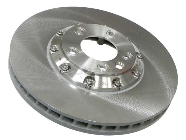 95535140161 O.E.M. Disc Brake Rotor; Front Left, Directional; 380 x 38mm