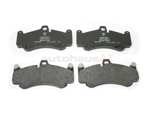 PO-98035193900 Genuine Porsche Brake Pad Set
