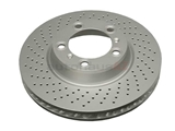 SP34101 ATE Coated Disc Brake Rotor; Front Left; Directional; Cross-Drilled