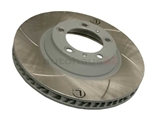 99735140501 Sebro Slotted & Coated Disc Brake Rotor; Directional Front Left
