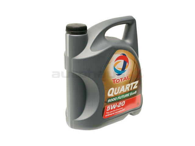 195027 Total Quartz 9000 Future EcoB Engine Oil; 5W-20 Synthetic; 5 Liter