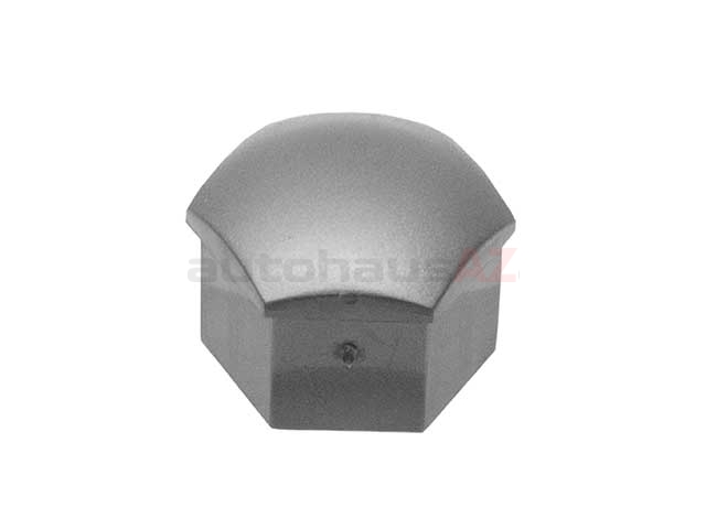 321601173AZ37 Genuine Audi Wheel Lug Bolt Cap; Grey Plastic