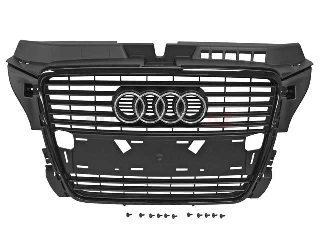 8P0853651PVMZ Genuine Audi Grille; Black