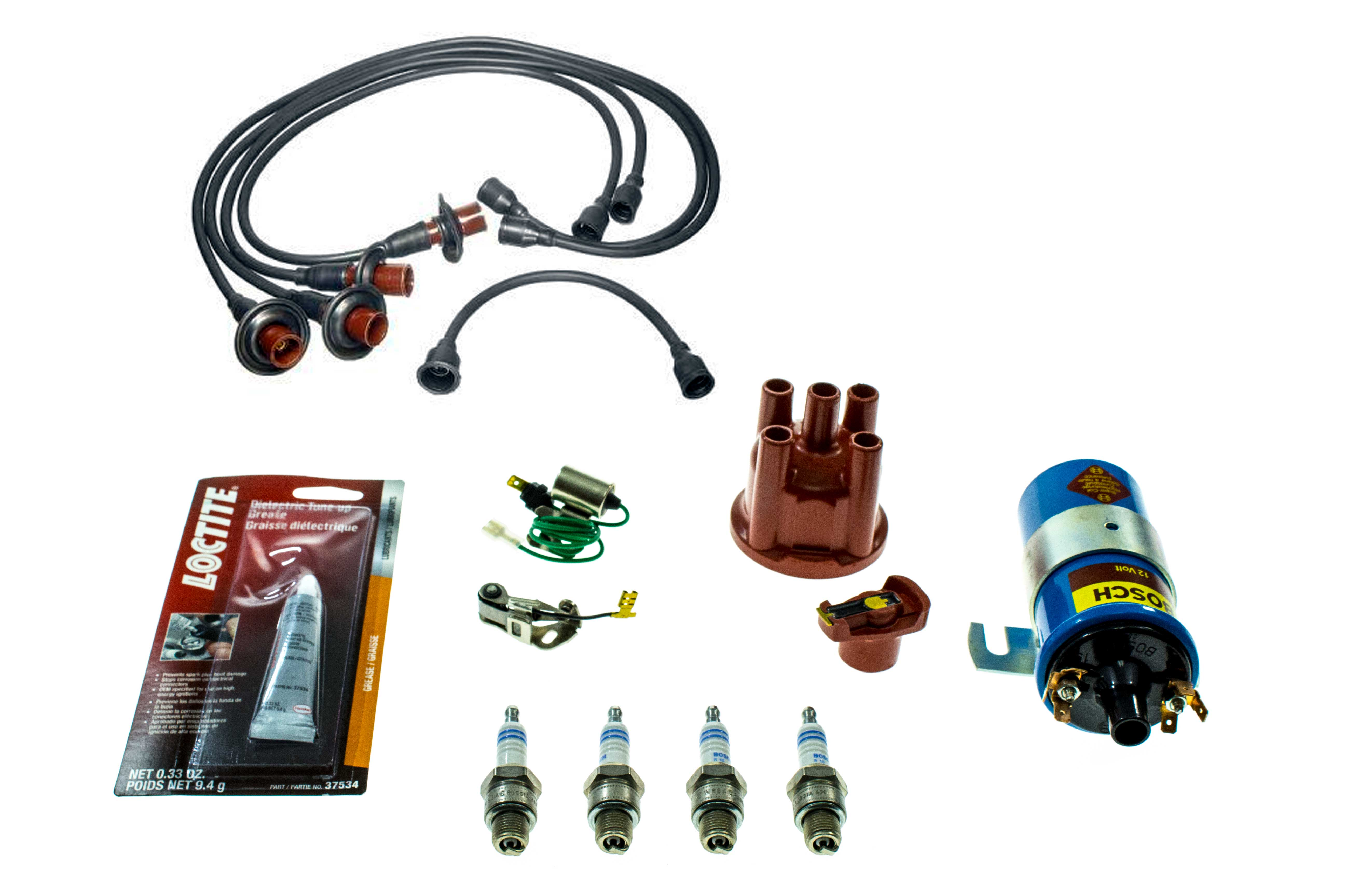 VW009TUNELGKIT AAZ Preferred Ignition Tune-Up Kit; Coil, Cap, Rotor, Points, Condenser, Plugs and Wire Set; KIT