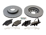 VWFTBRK1KIT AAZ Preferred Disc Brake Pad and Rotor Kit; Front, 288mm; KIT