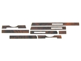 WK-107BS URO Parts Dash Panel Overlay; Dash Strip Set, Burl Wood