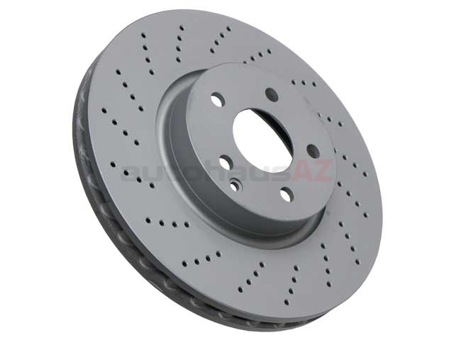 000421301207 Zimmermann Coat Z Disc Brake Rotor; Front, Vented & Cross-Drilled; 322 X 32mm