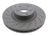 2204211912 Zimmermann Coat Z Disc Brake Rotor; Front; Vented and Cross-Drilled; 360 x 36mm