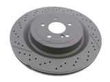 2314230212 Zimmermann Coat Z Disc Brake Rotor; Rear
