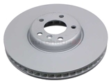 34116785669 Zimmermann Coat Z Disc Brake Rotor; Front Left Directional; 348x36mm